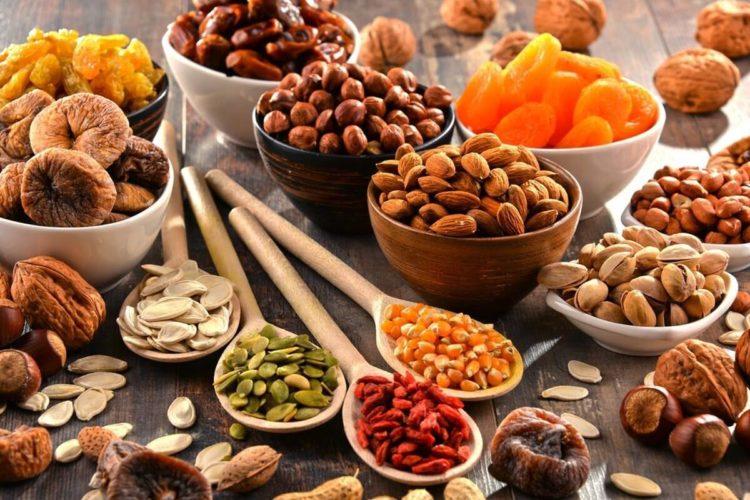 frutos secos en comida sana barcelona españa